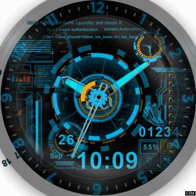 HUD Watch Android Watch Face