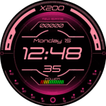 Hud Display Pink Watch Face