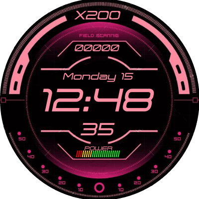 Hud Display Pink Android Watch Face