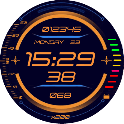Hud Display v3.English Android Watch Face