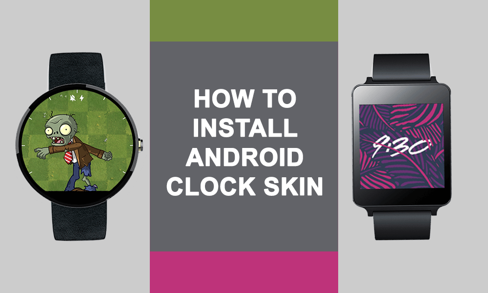 Install Android Clock Skin