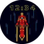 Iron Man Neon Watch Face