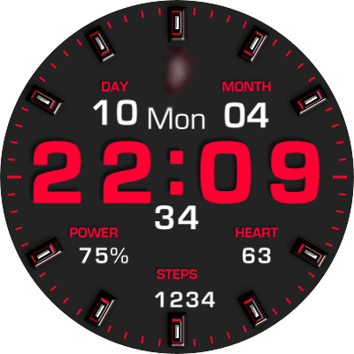 JN 3 Colors V2 Android Watch Face