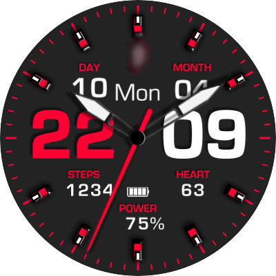 JN 3 Colours Android Watch Face