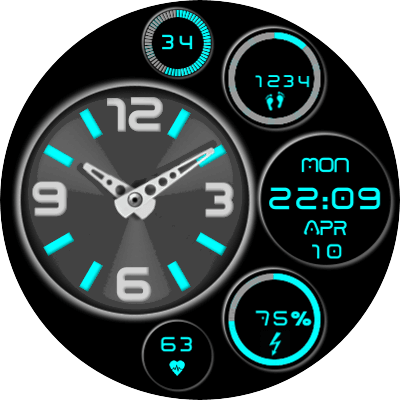 JN 6 Display Android Watch Face