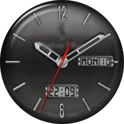 JN Carbon Fiber Android Watch Face