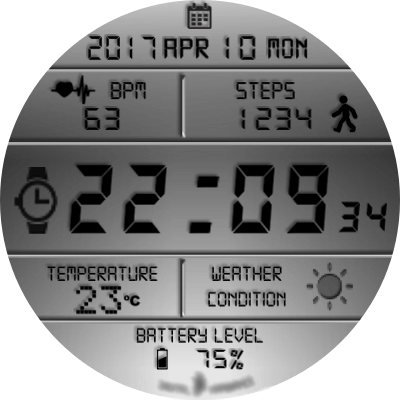 JN Digital Hambiance V5 Android Watch Face