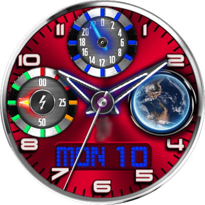 JN Earth View Android Watch Face