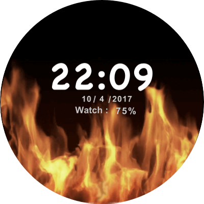 JN Fire Android Watch Face