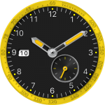 JN Preto & Amarelo Watch Face