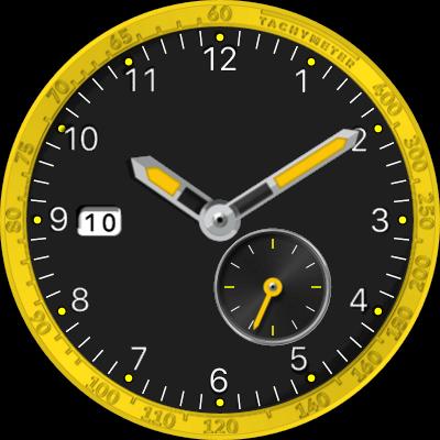 JN Preto & Amarelo Android Watch Face