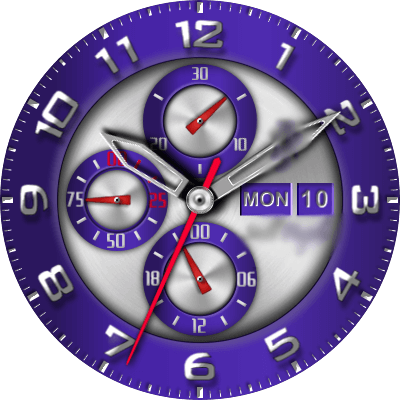 JN Still Purple Android Watch Face