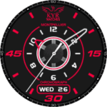 KYR Montpellier Chronograph Watch Face