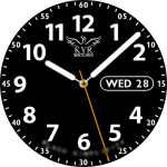 KYR Black Simplicity Watch Face
