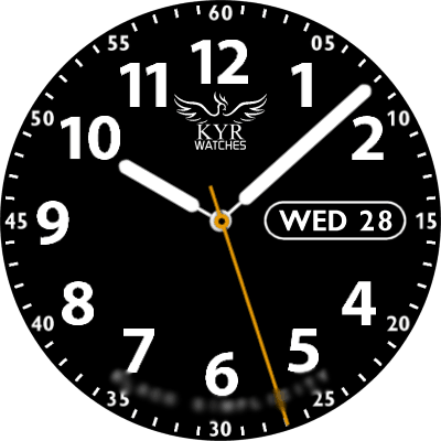 KYR Black Simplicity Android Watch Face