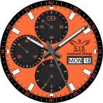 KYR Clockwork Orange Clock Face