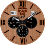 KYR Cool Wood Clock Face