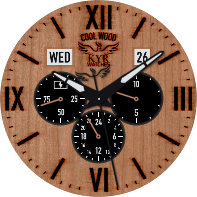 KYR Cool Wood Android Watch Face