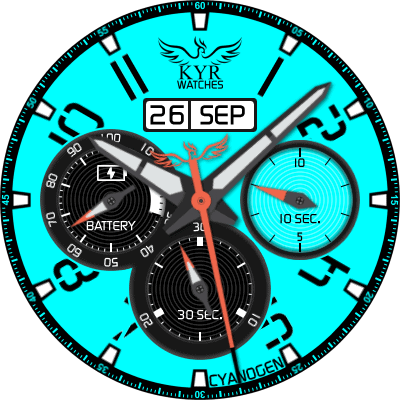 KYR Cyano Gen Android Watch Face