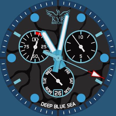 KYR Deep Blue Sea Android Watch Face