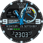 KYR ExoFlight DarkEagle Watch Face