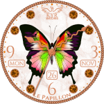 Kyr Le Papillon Clock Face