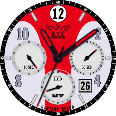 KYR Vintage Racer Collection Android Watch Face