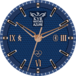 Kyr Azure Clock Face