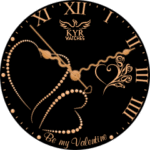 Kyr Be My Valentine Clock Face