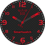 Kyr Bold Life Red Watch Face