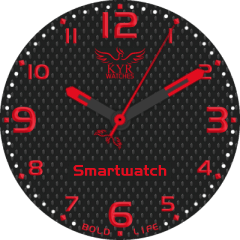 Kyr Bold Life Red VXP Watch Face