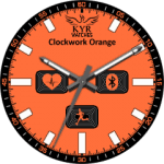 Kyr Cwork Orange Clock Face
