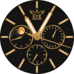 Kyr Dark Gold Watch Face