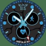 Kyr Deep Blue Sea Clock Face