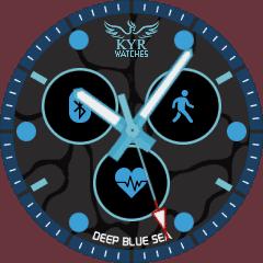 Kyr Deep Blue Sea VXP Watch Face