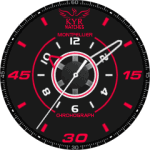 Kyr Mont pellier Chrono Watch Face