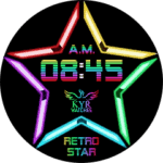 Kyr Retro Star Clock Face