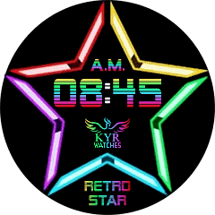 Kyr Retro Star VXP Watch Face