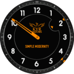 Kyr Simple Modernity Clock Face