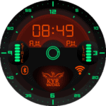 Kyr Space Pilot Digital Clock Face