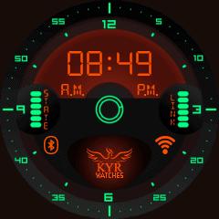 Kyr Space Pilot Digital VXP Watch Face