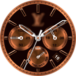 LV Bronze Watch Face