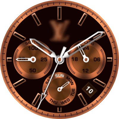 LV Bronze Android Watch Face