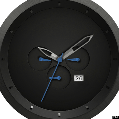 MVMT Chrono Gun Metal Android Watch Face