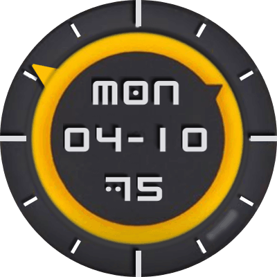 Mellow Yellow Android Watch Face