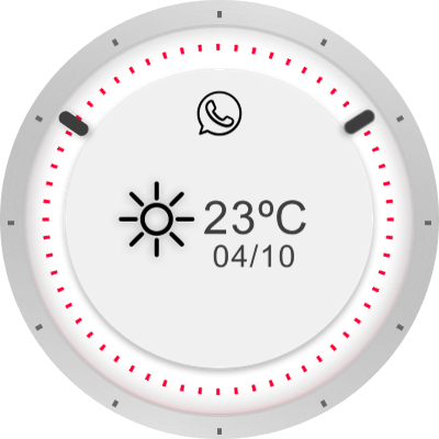 Minimal White Android Watch Face