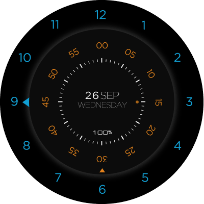 Moto 360 Black Android Watch Face
