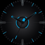 Moto Blue Watch Face