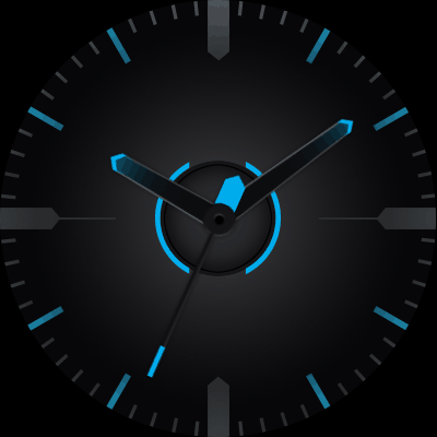 Moto Blue Android Watch Face