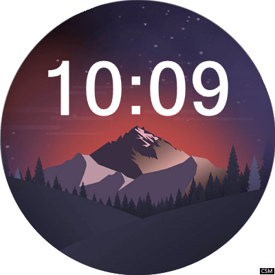 Mountain A2 Android Watch Face
